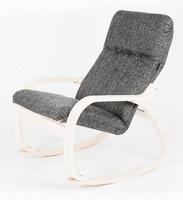 Кресло-качалка САЙМА, каркас ВИШНЯ, ткань Т19, бутылочный