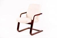 Кресло МИЧИГАН-1 с подлокотниками, каркас ВЕНГЕ, Ткань ПРЕМЬЕР 25,серый