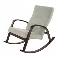 Кресло-качалка ИРСА, каркас ОРЕХ, ткань МОНО 111
