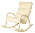 Кресло-качалка КАМЕЯ, Каркас: ВЕНГЕ, Ткань: СЛОНОВАЯ КОСТЬ
