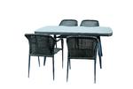 Набор мебели Ливорно2 без подушек (стол 160×90 2 уп+4кресла)(каркас корич)