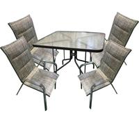 """Набор мебели """"Сан-Ремо 2"""" мягкий (4 стула+стол 1000х1000мм)"""