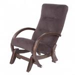 Кресло-качалка глайдер МЭТИСОН-1, каркас ОРЕХ, ткань КРЕМ БРЮЛЕ