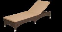 Лежак  Мальта ротанг искусственный (коричневый) подушка бежевая