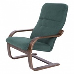 Кресло САЙМА каркас ОРЕХ, ткань ПРЕМЬЕР 10, коричневый